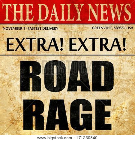 road rage, article text in newspaper