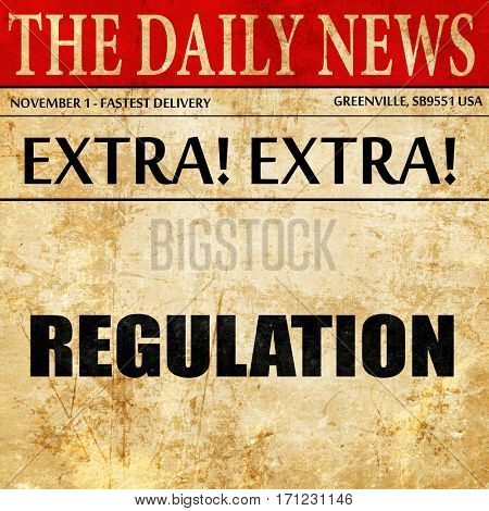 regulation, article text in newspaper