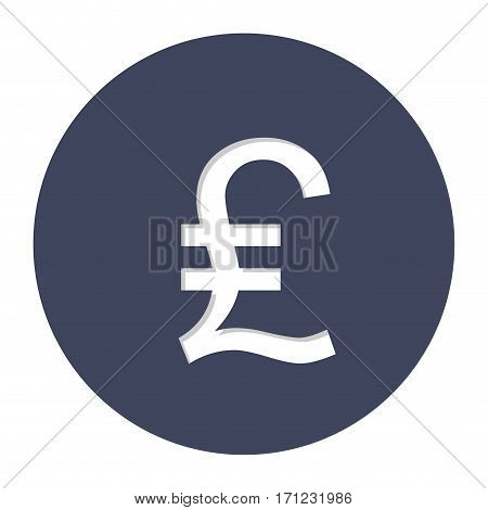 Lira currency symbol icon image, vector illustration