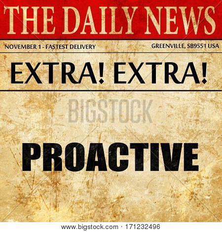 proactive, article text in newspaper