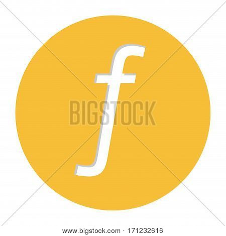 guilder currency symbol icon image, vector illustration