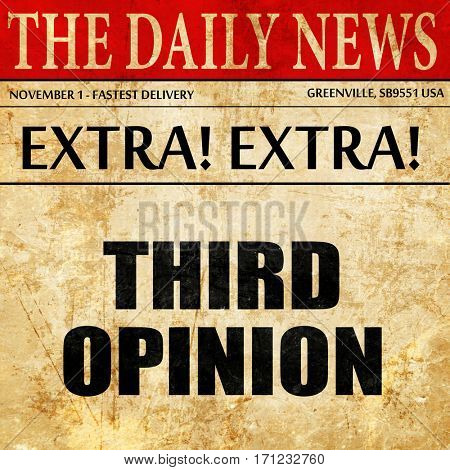 third opinion, article text in newspaper