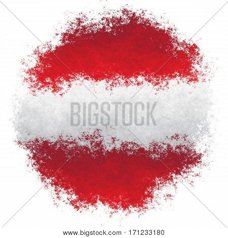 Color spray stylized flag of Austria on white background