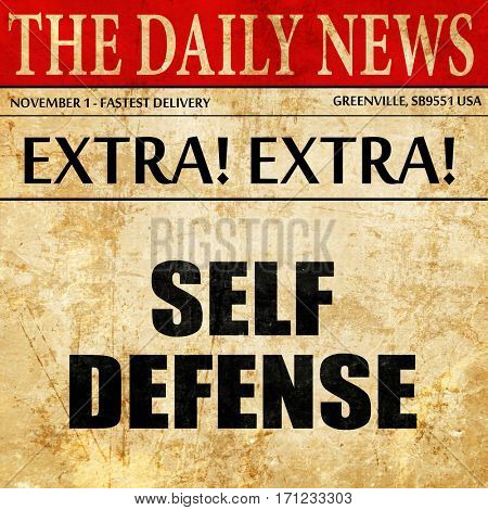 self defense, article text in newspaper