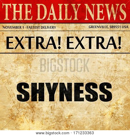 shyness, article text in newspaper