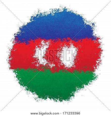 Color spray stylized flag of Azerbaijan on white background