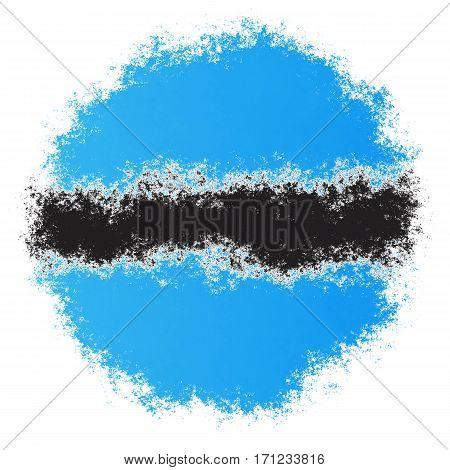 Color spray stylized flag of Botswana on white background