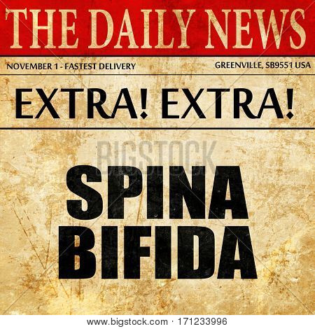 spina bifida, article text in newspaper