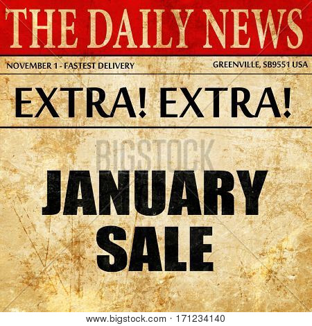 january sale, article text in newspaper