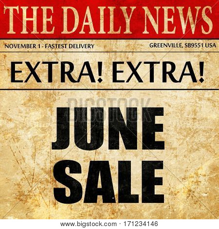 june sale, article text in newspaper