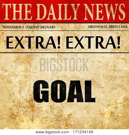 goal, article text in newspaper
