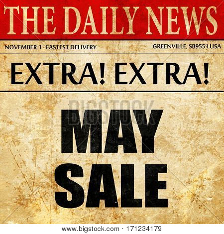 may sale, article text in newspaper