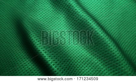 green fabric high quality jeans texture, moving waves. Nature texture