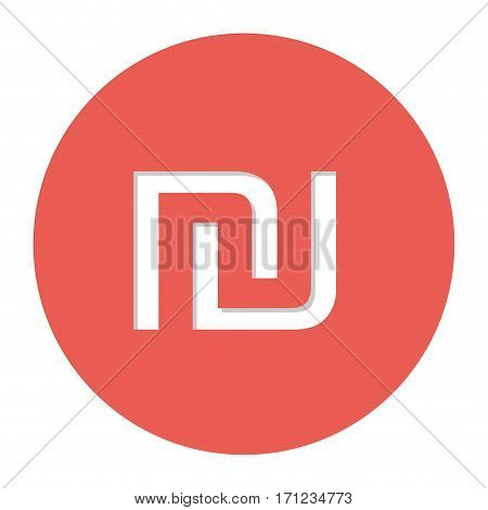 sheqel israel currency symbol icon image, vector illustration