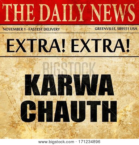 karwa chauth, article text in newspaper