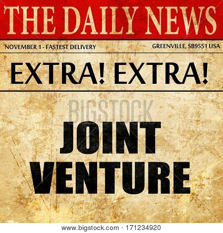 joint venture, article text in newspaper