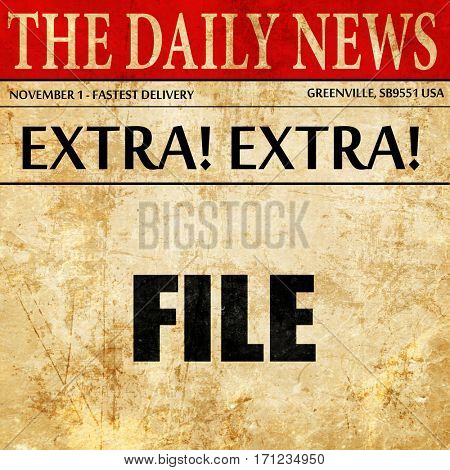 file, article text in newspaper
