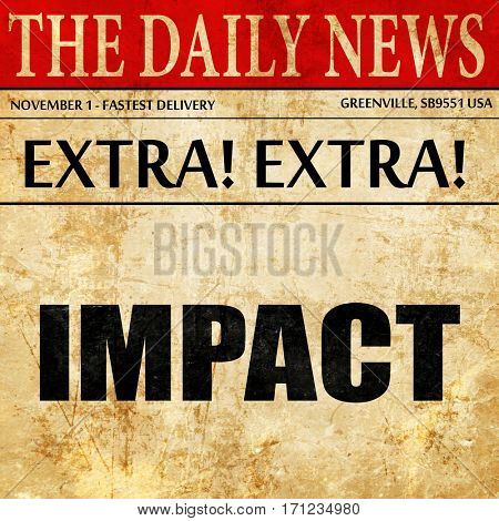 impact, article text in newspaper