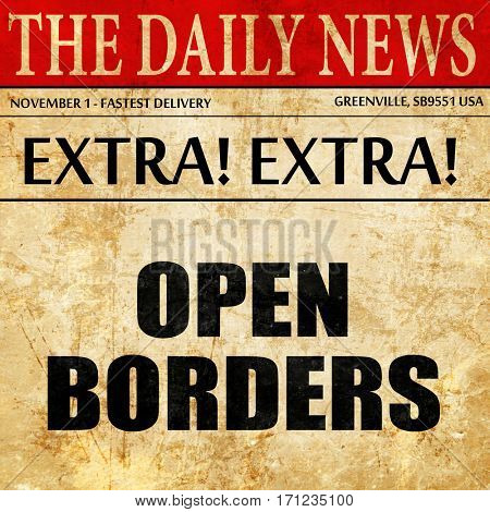 open borders, article text in newspaper