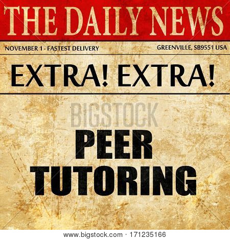peer tutoring, article text in newspaper