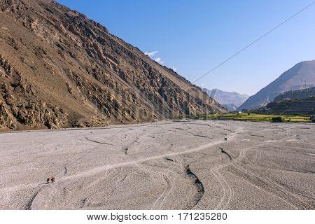Valley of the Kali Gandaki River, Upper Mustang, Nepal. Annapurna cirkut trek.