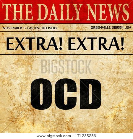 ocd, article text in newspaper