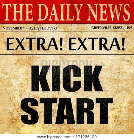 kickstart, article text in newspaper