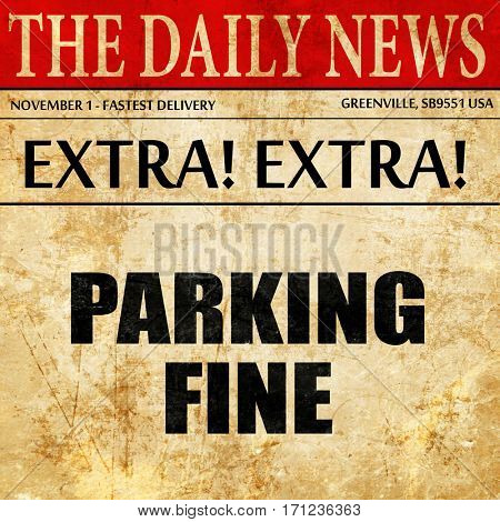 parking fine, article text in newspaper
