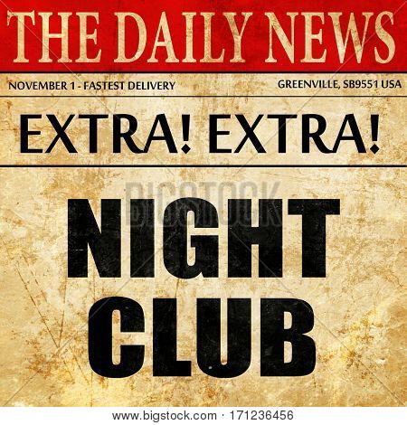 night club, article text in newspaper