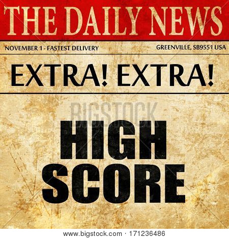 high score, article text in newspaper