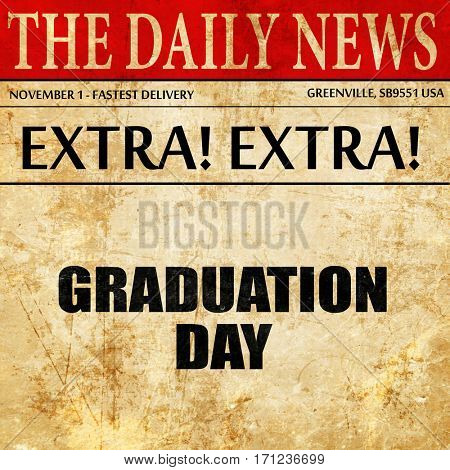 graduation day, article text in newspaper