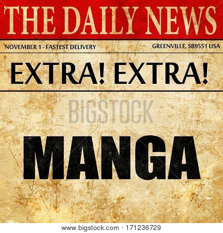 manga, article text in newspaper