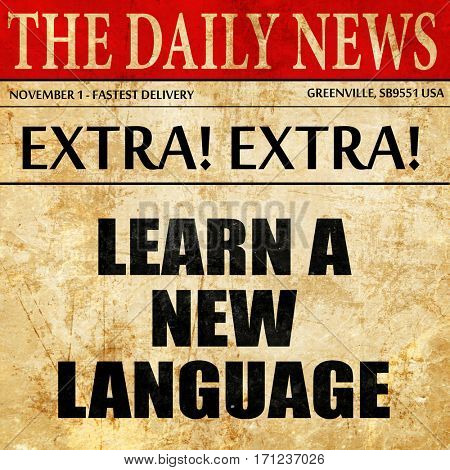 learn a new language, article text in newspaper