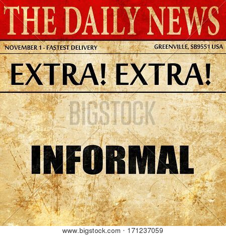 informal, article text in newspaper