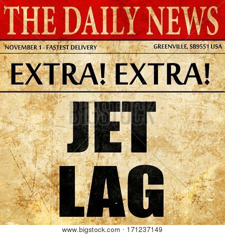 Jet lag, article text in newspaper
