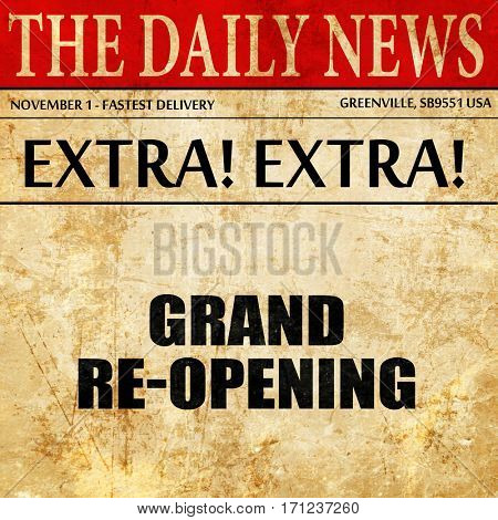 grand reopening, article text in newspaper