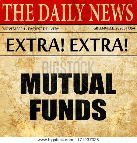 mutual funds, article text in newspaper