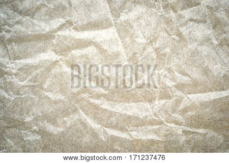 Wrinkled White Paper As A Background With Copy Space