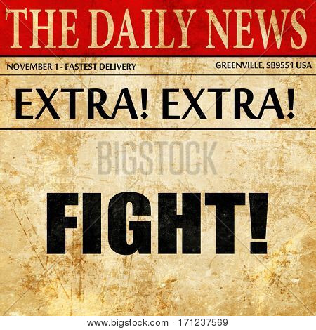 fight, article text in newspaper