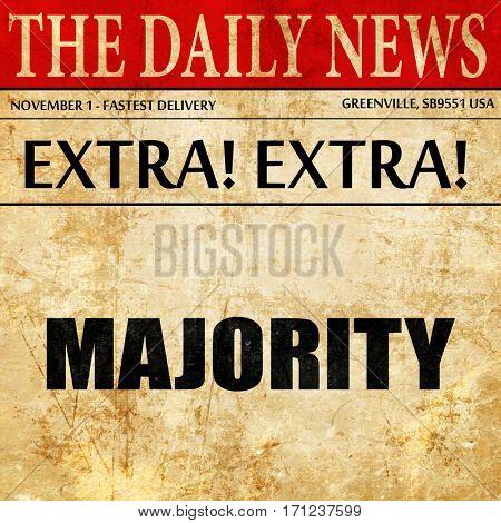 majority, article text in newspaper