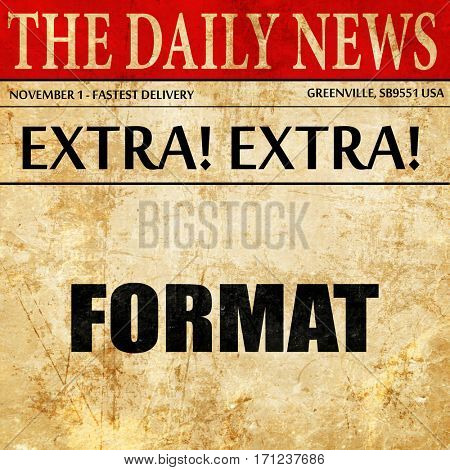 format, article text in newspaper