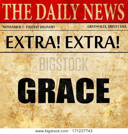 grace, article text in newspaper
