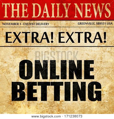 online betting, article text in newspaper