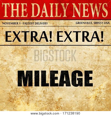 mileage, article text in newspaper