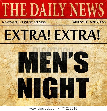 mens night, article text in newspaper