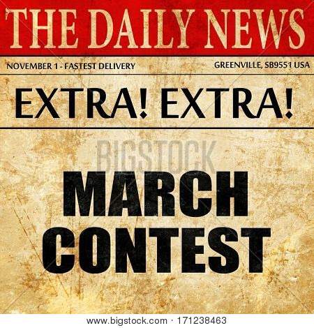 march contest, article text in newspaper