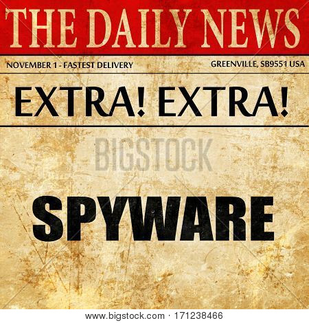 spyware, article text in newspaper