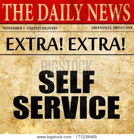 self service, article text in newspaper