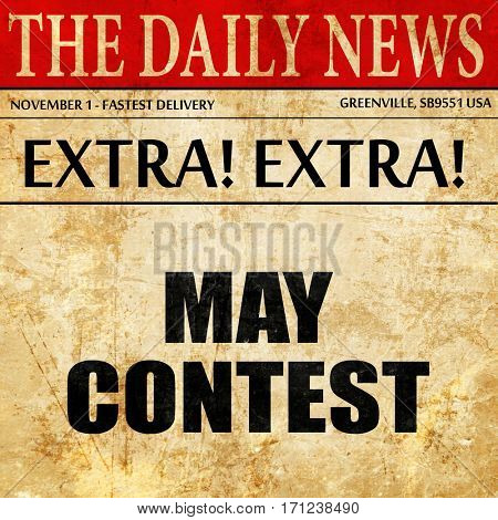 may contest, article text in newspaper