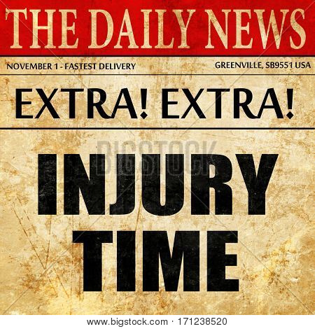 injury time, article text in newspaper